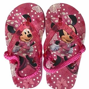 Disney Minnie Mouse Toddler Sandals Size M 7-8